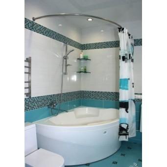 Карниз полукруглый для ванны 160х100