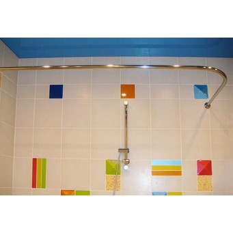 Карниз угловой для ванной комнаты 150*75