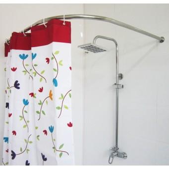 Карниз угловой для ванной комнаты 190х80