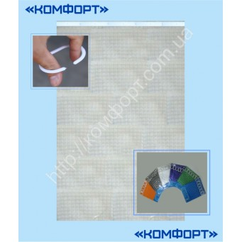Штора 3Д, силикон, 175*175 см, белый цвет