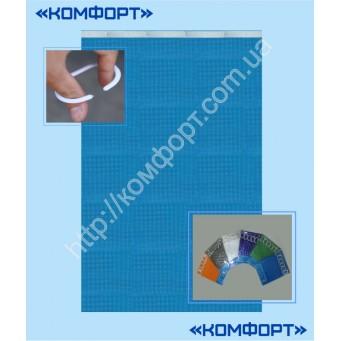 Штора 3Д, силикон, 175*175 см, голубой цвет