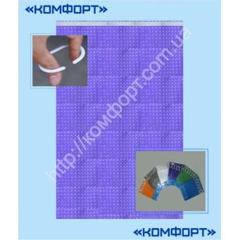 Штора 3Д, силикон, 175*175 см, фиолетовый цвет
