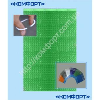 Штора 3Д, силикон, 175*175 см, ярко-зелёный цвет