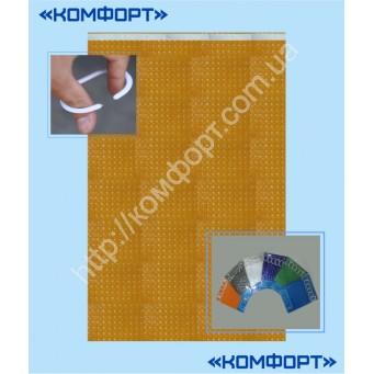 Штора 3Д, силикон, 175*175 см, оранжевый цвет